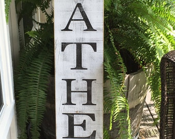 Gather sign, Fixer Upper Inspired Signs,40x11.25,, Rustic Wood Signs, Farmhouse Signs, Wall Décor