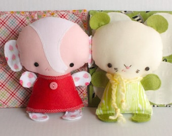 SALE Wittle Whimsy Fleur and Pascal PDF Doll Pattern