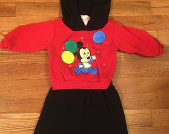 80s/90s The walt Disney Company Disney Babies Jog Togs two piece sweat suit