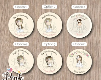 First Communion Favor Tags • Baptism Favor Tags • (SET OF 12 PIECES) for Model
