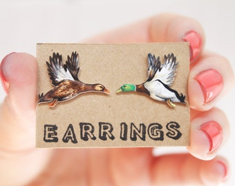 Earrings: Ducks