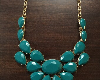 turquoise statement necklace, statement necklace, turquoise necklace, turquoise jewelry, fashion necklace, gem choker necklace, choker