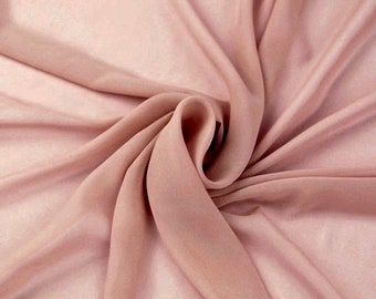Danielle DUSTY ROSE Polyester Hi-Multi Chiffon Fabric by the Yard - 10075
