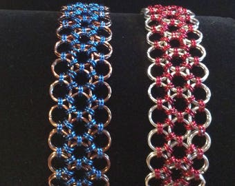 Chain maille weave  bracelet women's ready to ship
