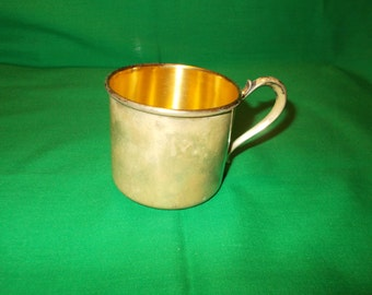 One (1), Child's Silver Plated Cup, from Wallace Silver.
