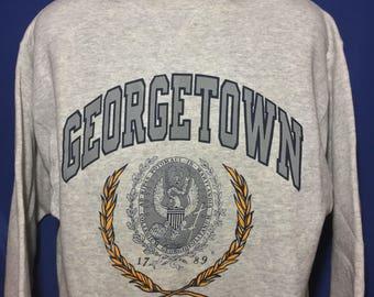 Vintage 1980s Georgetown University Champion Reverse Weave sweatshirt *L