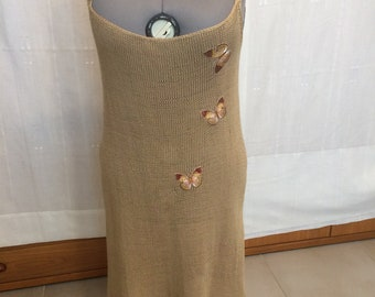 Handmade Summer knitted Linen dress