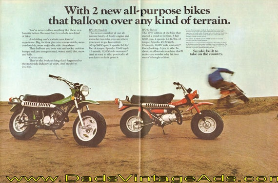 1973 Look Out! - here comes Suzuki. 12-Page Ad #de72ka11