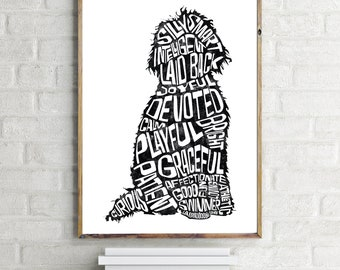 A3 Print The Labradoodle, Doodle Dog Art Print, Gift For Dog Lover