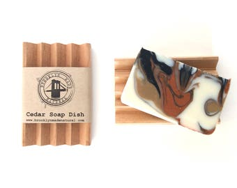 Cedar soap dish, wooden soap dish, soap saver dish, handmade wood soap dish, cedar wood soap dish