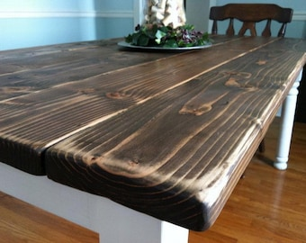 Ordinaire Rustic Dining Table   Etsy