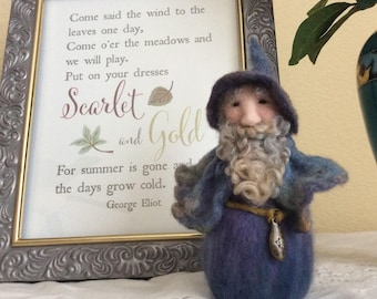 Warm And Wooly Needle Felted Wool Gnome