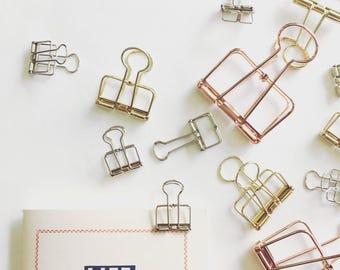 Fil de Bulldog Clips - 3 tailles - 3 couleurs | Cadre Clip / broche pince-notes / pince en métal / Binder Clip | accessoires de planificateur