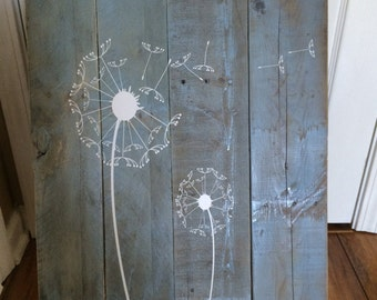 Dandelion Vinyl Wall Decal / Dandelion Wall Art / Flower Wall Decals / Nature Decal / Modern Decor / Laundry Room Decal / Birthday Gift