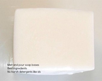 White Natural Low Sweat Melt and Pour Soap