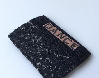 Thin wallet, slim wallet, skinny wallet, credit card holder, dance lover wallet