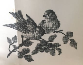 Jean Mcintosh #M-139 ***Two Canaries*** Cross stitch/Petit point  CHART ONLY   Vintage 1955