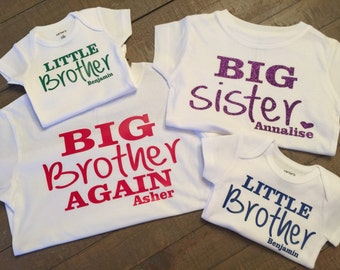 Set Of 4 Sibling Rules T Shirts Brothers Or Sisters Rules