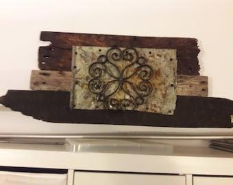 Wood Repurposed Scroll Sign