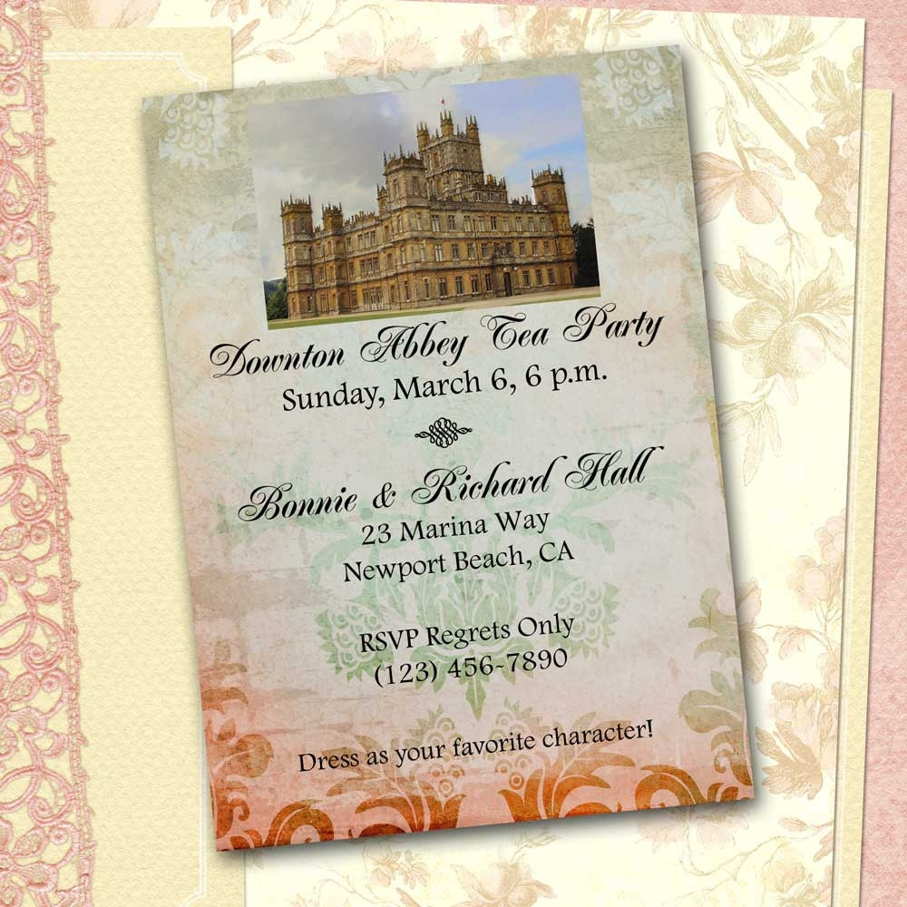 Downton abbey invitation diy printable download downton zoom monicamarmolfo Image collections