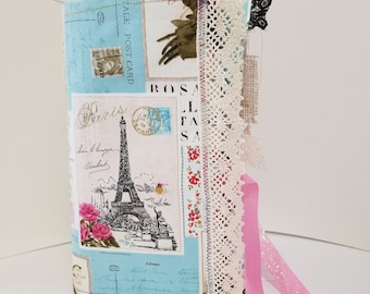 Fabric (Softcover) Journal, Junk Journal Style, Standard Size
