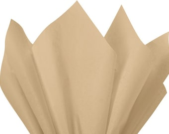 """PARCHMENT BEIGE Tissue Paper for Gift Wrapping 20""""x26"""" Solid Sheets (Your Choice of Quantity) Free Shipping!"""
