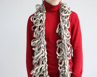 Knit Cowl, Oversized Cowl,  Cowl Scarf, Hand knitted wool snood/ wool cowl/ chunky scarf