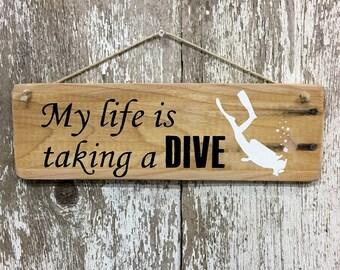 Scuba Diver Gift Scuba Diving Sign Scuba Diver Sign Scuba Diver Wall Art Scuba Diver Art Snorkeling Sign Snorkeling Wall Art Island Signs