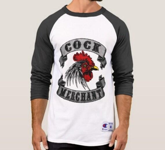 Cock Merchant Champion Raglan Tee Shirt