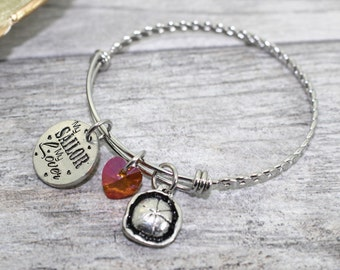 Stainless Steel Navy Girlfriend Bangle Bracelet | Navy Girlfriend Jewelry | USN Wife Bangle | USN Wife Jewelry | Milso bangle bracelet