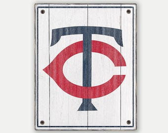 Minnesota Twins sign - Print applied to wood - Twins fan gift - Man cave Boys room Sports Bar decor Fathers Day gift for Dad
