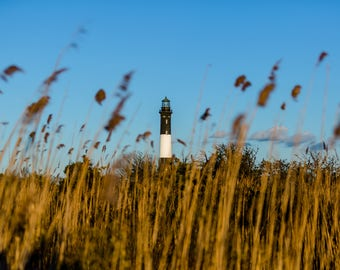 Fire Island lighthouse . Wall art, photo print. Long Island, NY.