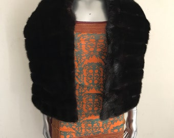Mink fur beautiful and clean hand made scarf .