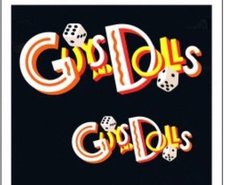 Theater / Show Charm - Playbill Play Bill - Guys and Dolls