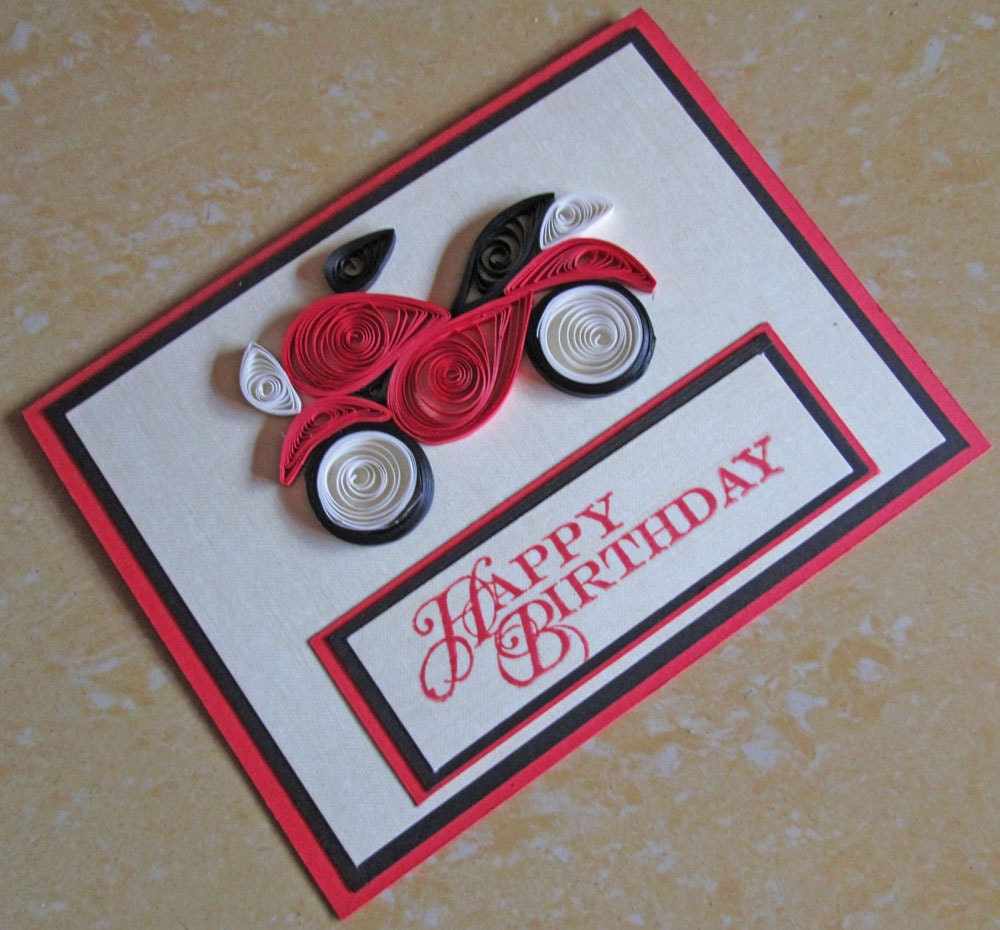 Paper Quilling/ Happy Birthday Card/ Quilled Birthday Card/