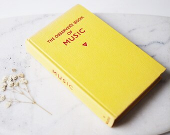 Vintage The Observers Book of Music Yellow Leather Look Cover Collectable Book