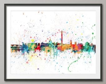 Washington DC Skyline, Washington DC Cityscape Art Print (1961)