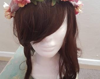Autumn Dusty Rose Flower Crown