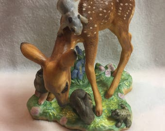 Franklin Mint - 'Nature's Mirror' - Baby Deer and Friends (#196)