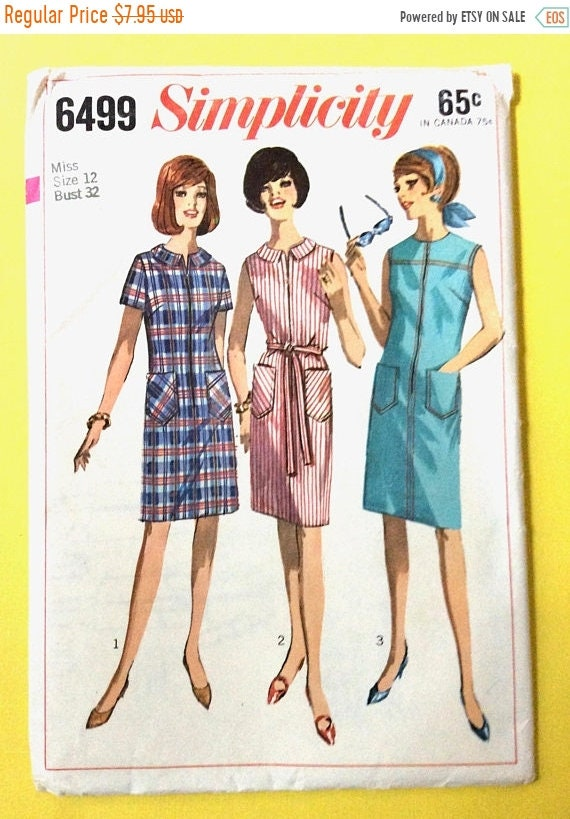 Spring Sale Uncut Simplicity 5877 Shirtwaist dress with