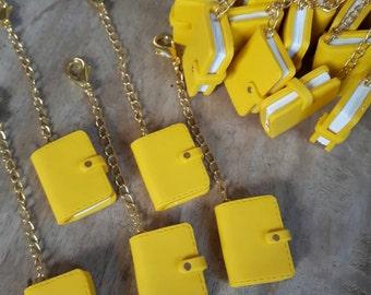 Yellow kikki k planner charms, keychains or bag charms