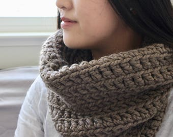 Crochet Cowl - Taupe
