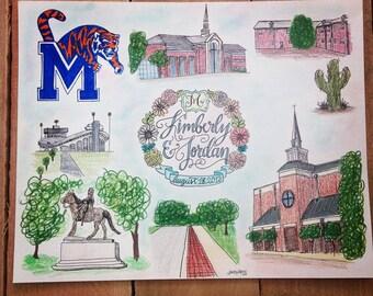 CUSTOM Collage, Hand-drawn