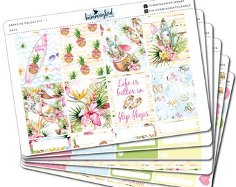 Paradise Deluxe Kit | DK03 | Planner Stickers for Erin Condren Vertical Planners - Physical Item | The Hummingbird Planner