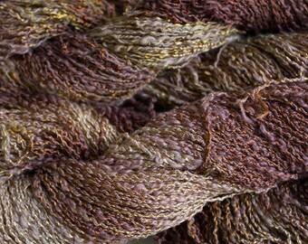 Sparrow, Cotton/Rayon Boucle Yarn, 225 yds - Tea Tonal