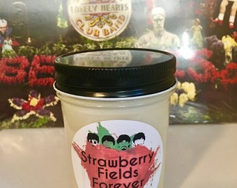 100% Soy Strawberry Fields Forever Scented Candle
