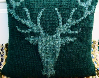Knitting Pattern for Stag / Deer Head Pillow