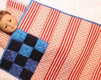 Doll Quilt, Pillow, and Pillowcase