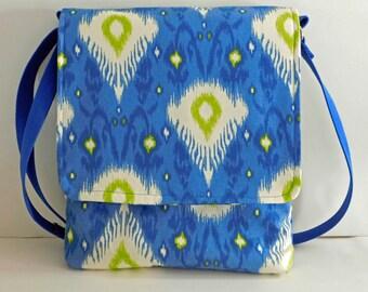 Ikat Laptop Messenger Bag/Laptop bag/Messenger bags/crossbody bags/laptop messenger bags/laptop computer bags/shoulder bags/ikat laptop bags