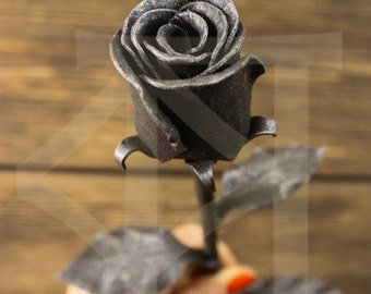 Forged rose, Steel Rose, Metal rose, Forever Rose, Anniversary Gift, Valentine's Day, Mother's Day Gift